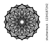 mandala for coloring book.round ... | Shutterstock .eps vector #1234187242