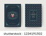 christmas greeting card design... | Shutterstock .eps vector #1234191502
