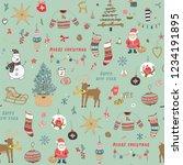 christmas background  seamless... | Shutterstock .eps vector #1234191895