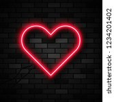 vector realistic isolated neon... | Shutterstock .eps vector #1234201402