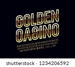 vector chic logo golden casino. ... | Shutterstock .eps vector #1234206592