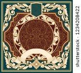 vintage ornate decorative card   Shutterstock .eps vector #1234208422