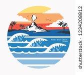 hawaii surf typography  tee... | Shutterstock .eps vector #1234208812