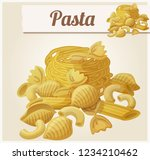 pasta. detailed icon. series of ... | Shutterstock . vector #1234210462