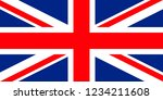 flag of the united kingdom of... | Shutterstock . vector #1234211608