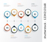 multimedia icons colored line... | Shutterstock .eps vector #1234213168