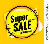 super sale banner template... | Shutterstock .eps vector #1234218322