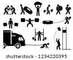 strength athletics strongman... | Shutterstock .eps vector #1234220395