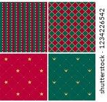 set of royal xmas patterns.... | Shutterstock .eps vector #1234226542