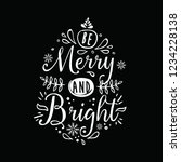 merry christmas. typography.... | Shutterstock .eps vector #1234228138