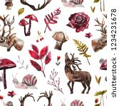 seamless pattern with... | Shutterstock . vector #1234231678