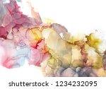 alcohol ink sea texture. fluid... | Shutterstock . vector #1234232095