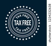 tax free icon emblem  label ...