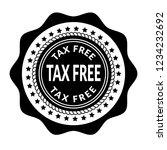 tax free icon emblem  label ...