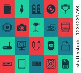 computer icons set with central ... | Shutterstock .eps vector #1234234798