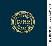 gold button with tax free text... | Shutterstock .eps vector #1234234945