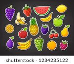 vector illustration set of... | Shutterstock .eps vector #1234235122