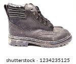 black safety shoe on white... | Shutterstock . vector #1234235125