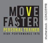 athletic sport training... | Shutterstock .eps vector #1234235998