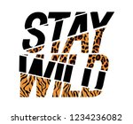 stay wild fashion slogan sliced ... | Shutterstock .eps vector #1234236082