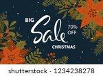 winter christmas promotional... | Shutterstock .eps vector #1234238278