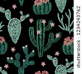 Seamless Pattern Of Embroidery...