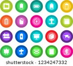 round color solid flat icon set ... | Shutterstock .eps vector #1234247332