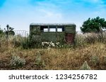 Abandoned Caravan In The Grass