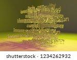 3d rendering. cgi typography ...   Shutterstock . vector #1234262932