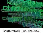 abstract keywords cloud...   Shutterstock . vector #1234263052