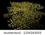 3d rendering. keywords cloud ...   Shutterstock . vector #1234263055