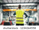 a rear view of an industrial... | Shutterstock . vector #1234264558