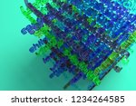 3d rendering. cgi typography ...   Shutterstock . vector #1234264585