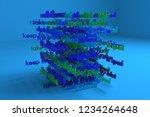 3d rendering. keywords cloud ...   Shutterstock . vector #1234264648