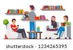 modern library home style...   Shutterstock .eps vector #1234265395