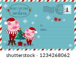 merry christmas   happy new... | Shutterstock .eps vector #1234268062