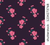 seamless vector ornamental... | Shutterstock .eps vector #1234273768
