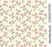 seamless vector ornamental... | Shutterstock .eps vector #1234273792