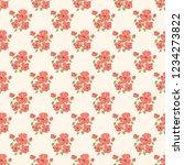 seamless vector ornamental... | Shutterstock .eps vector #1234273822