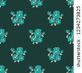 seamless vector ornamental... | Shutterstock .eps vector #1234273825