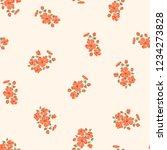 seamless vector ornamental... | Shutterstock .eps vector #1234273828