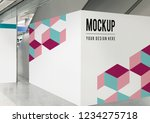 blank exhibition wall mockup at ... | Shutterstock . vector #1234275718
