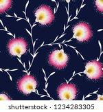 seamless vintage flower pattern ...   Shutterstock .eps vector #1234283305