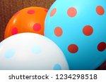christmas balloons. helium... | Shutterstock . vector #1234298518