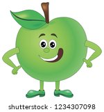 cartoon funny illustrations... | Shutterstock .eps vector #1234307098