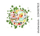 natural raw cakes collection... | Shutterstock .eps vector #1234307815