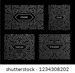vector set of art deco frames ... | Shutterstock .eps vector #1234308202