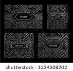 vector set of art deco frames ...