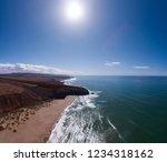 aerial panorama view on ocean... | Shutterstock . vector #1234318162