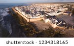 aerial panorama of medieval... | Shutterstock . vector #1234318165